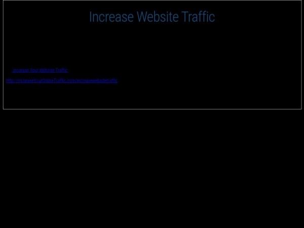 increaseyouronlinetraffic.com